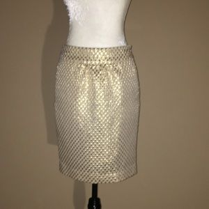 Eci New York gold pencil skirt, size 4